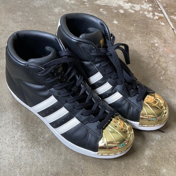 adidas superstar high gold